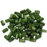 tubes wooden beads dark green 8 x 4 mm