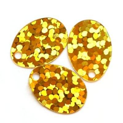 sequins laser tear drops gold 9 x 13 mm