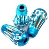 drops aluminium beads azure 8 x 15 mm
