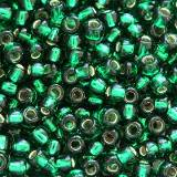 Toho round silver-lined green emerald 2 mm TR-11-36