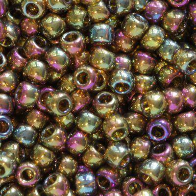 koraliki Toho round gold-lustered dark topaz 2.2 mm TR-11-459