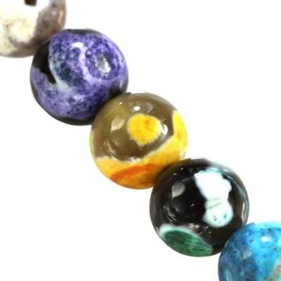 agat smocze oko miks kule 6 mm kamień naturalny barwiony