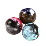 agate dragon eye mixed round 6 mm pierre teinte