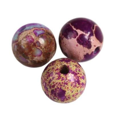 imperial jasper round amethystine 4 mm pierre teinte