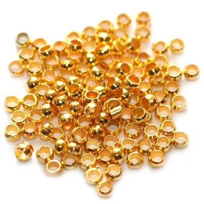 crimp beads 2,5 mm gold color