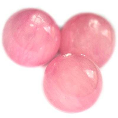 round beads marble dyed glassy rose 12 mm