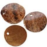 perlemos cirkler rustenfarvet 1-2 cm