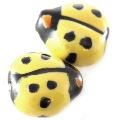 ladybug porcelain yellow 16 x 17 mm