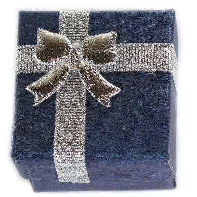 emballage à anneau bleu 4 x 4 x 3 cm