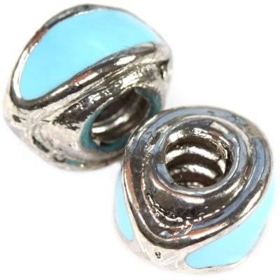 perles modulaires mailles azurées 8 x 13 mm
