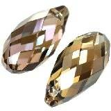 Swarovski briolette pendants crystal bronze shade 13 x 6,5 mm