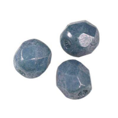 round beads denim blue luster 4 mm
