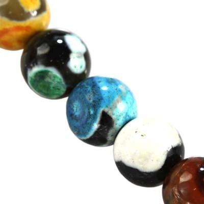 agat smocze oko miks kule 8 mm kamień naturalny barwiony
