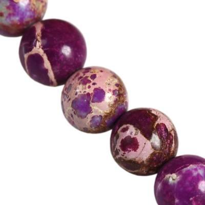jaspis cesarski ametystowe 6 mm kamień naturalny barwiony