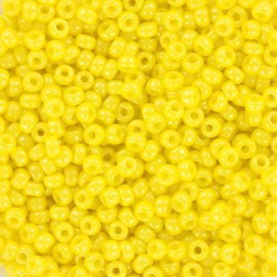 Miyuki round beads opaque luster yellow 11/0 #11-422