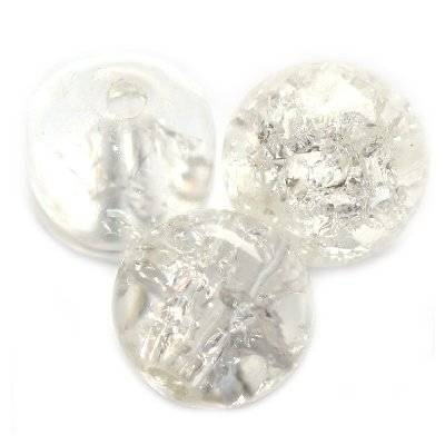 crackle beads beads white 8 mm