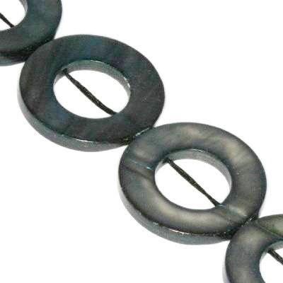 masa perłowa obrączki 20 mm czarne