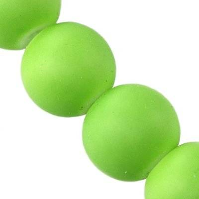 glass beads rubber coated green 14 mm