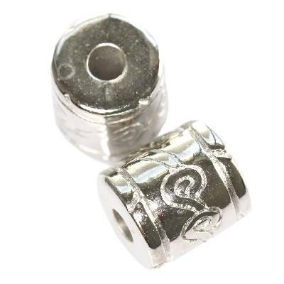 stebrički iz plastike srebrni 12,2 x 11,5 mm
