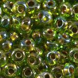 perline Toho magatama gold-lined rainbow peridot 3 mm TM-03-996