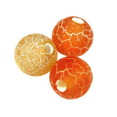 round fire agate orange 8 mm