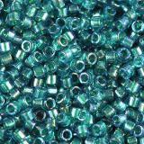 Perles Miyuki Delica aqua inside dyed emerald ab 1.6 x 1.3 mm DB-1764