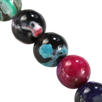 agat smocze oko miks 10 mm kamień naturalny barwiony