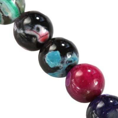 agat smocze oko miks kule 10 mm kamień naturalny barwiony
