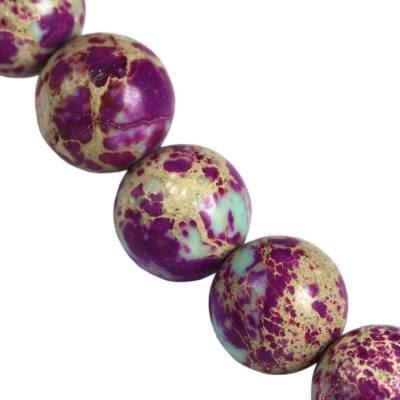 jaspis cesarski kule ametystowe 8 mm kamień naturalny barwiony