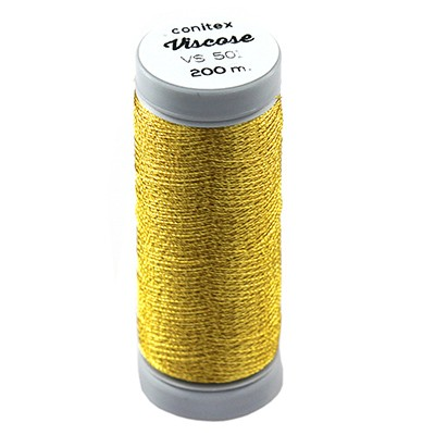 conitex™ viscose thread gold toned / rayon - embroidery thread