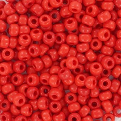 Perline Miyuki round opaque vermilion red 8/0 #8-407