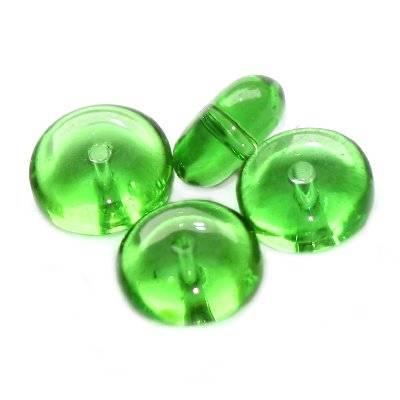 krążki zielone 8 mm / koraliki szklane