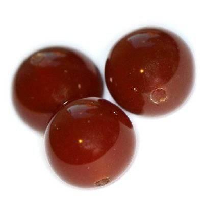 karneol pärlor runda 12 mm