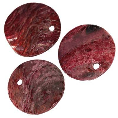 mother of pearl round plum 1 - 2 cm