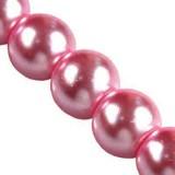 szklane perełki różowe 6 mm