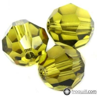 Swarovski round beads olivine 4 mm