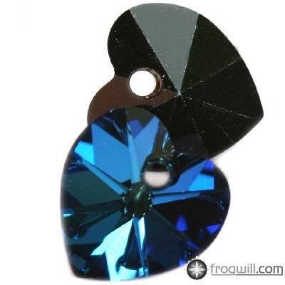 Swarovski heart pendants crystal bermuda blue 10.3 x 10 mm