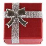 pudełeczko na pierścionek czerwone 4 x 4 x 3 cm
