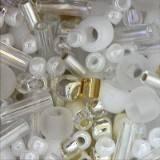 Toho beads multi-shape/color mix hasu- white mix 2 – 4 mm TX-01-3212