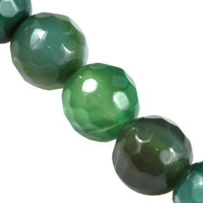 agat fasetowane ciemno zielony 10 mm kamień półszlachetny naturalny barwiony