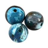agate dragon eye aqua round 4 mm dyed stone