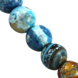 agate dragon eye aqua round 4 mm pierre teinte