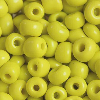 glass seed beads yellow sun 3.5 mm