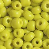 perles de graine de verre longues jaune 3,5 mm