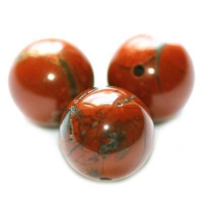 röd jaspis runda 6 mm