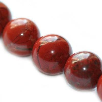 red jasper round beads 6 mm / semi-precious stone