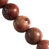 red jasper beads 6 mm / semi-precious stone