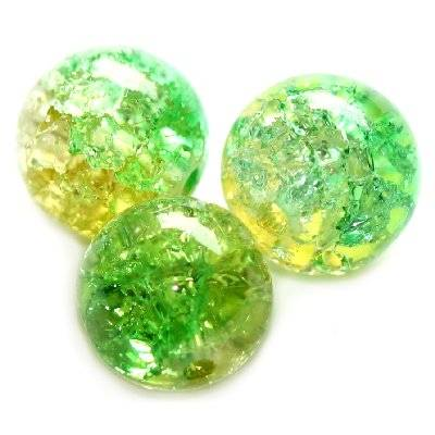 crackle beads beads green 8 mm