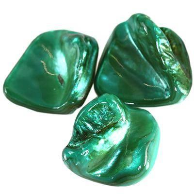 masa perłowa bryłki zielone