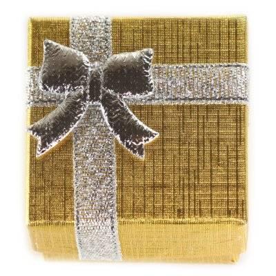 emballage à anneau d'or 4 x 4 x 3 cm